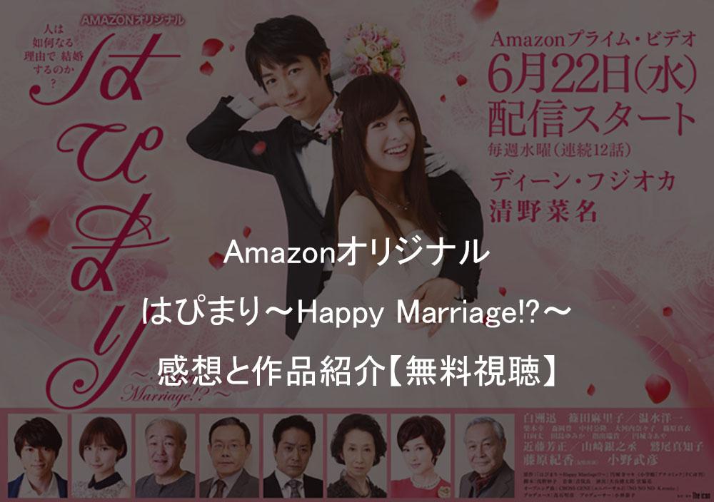 ディーンフジオカ「はぴまり〜Happy Marriage!?〜」感想とあらすじ【作品紹介】